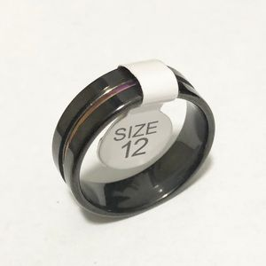 Men's Black Ring, Size 12 Men's